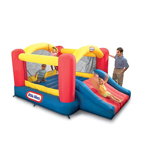 Kids bounce houses the old blue door for Door bouncer age