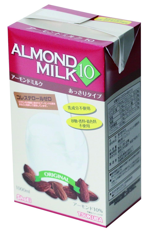 筑波乳業 アーモンドミルク(砂糖不使用)1000ml
