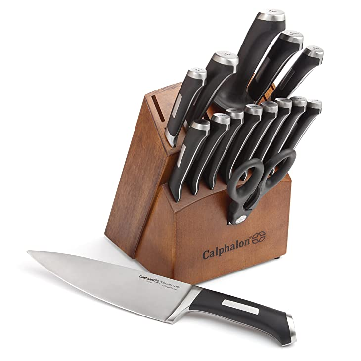 Calphalon Precision Series 16-Piece Cutlery Set with Wood Knife Block