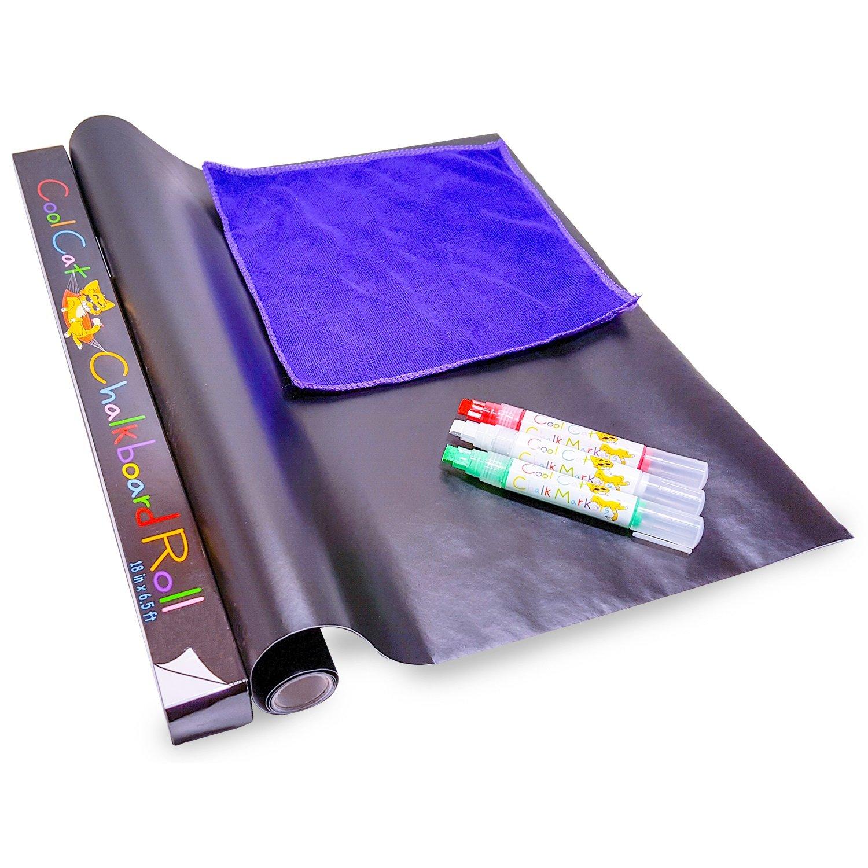 """Cool Cat Chalkboard Roll: 18"""" x 6.5"""