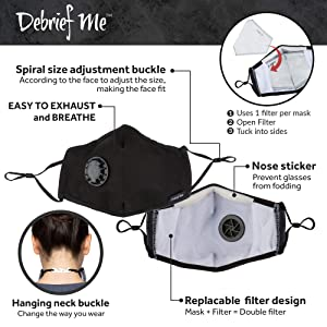 One Mask + 6 Filters) Military Grade N99 Carbon Activated Anti Dust Face Mouth Cover Mask Respirator - Dustproof Anti-bacterial Washable - Reusable Respirator Comfy - Cotton Ge (N99 Mask - Dark Red) (Color: N99 Mask - Dark Red)