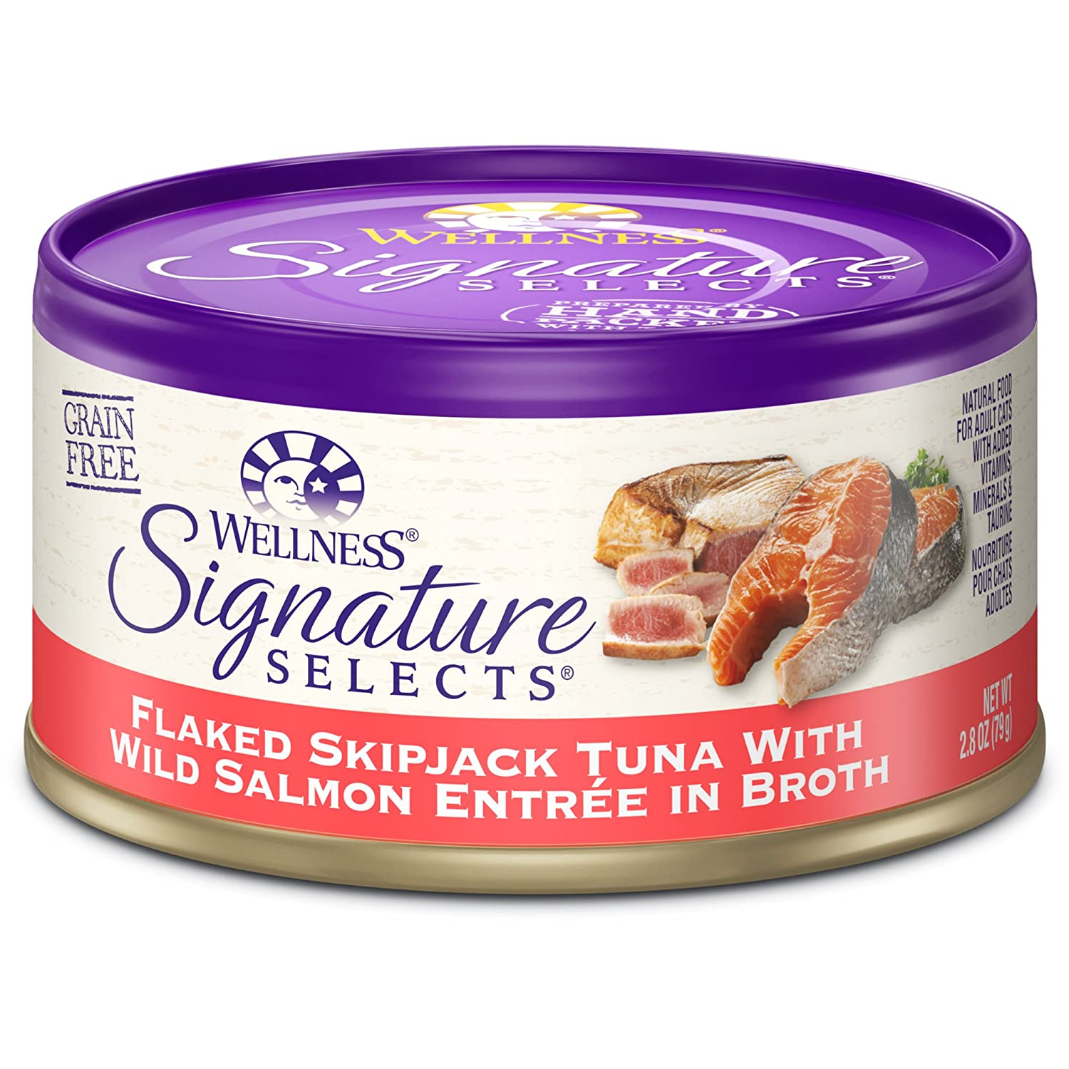 Wellness Signature Selects Natural Canned Grain Free Wet Cat Food (Pack of 24)