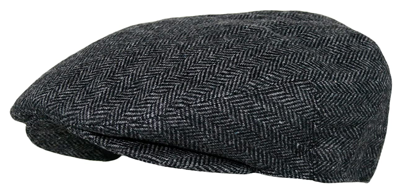Men's Premium Wool Blend Classic Flat Ivy Newsboy Collection Hat 1