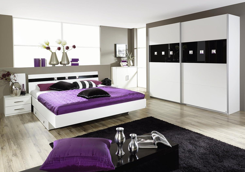Schlafzimmer-Set alpinweiss mit Bett 180 x 200 cm günstig kaufen