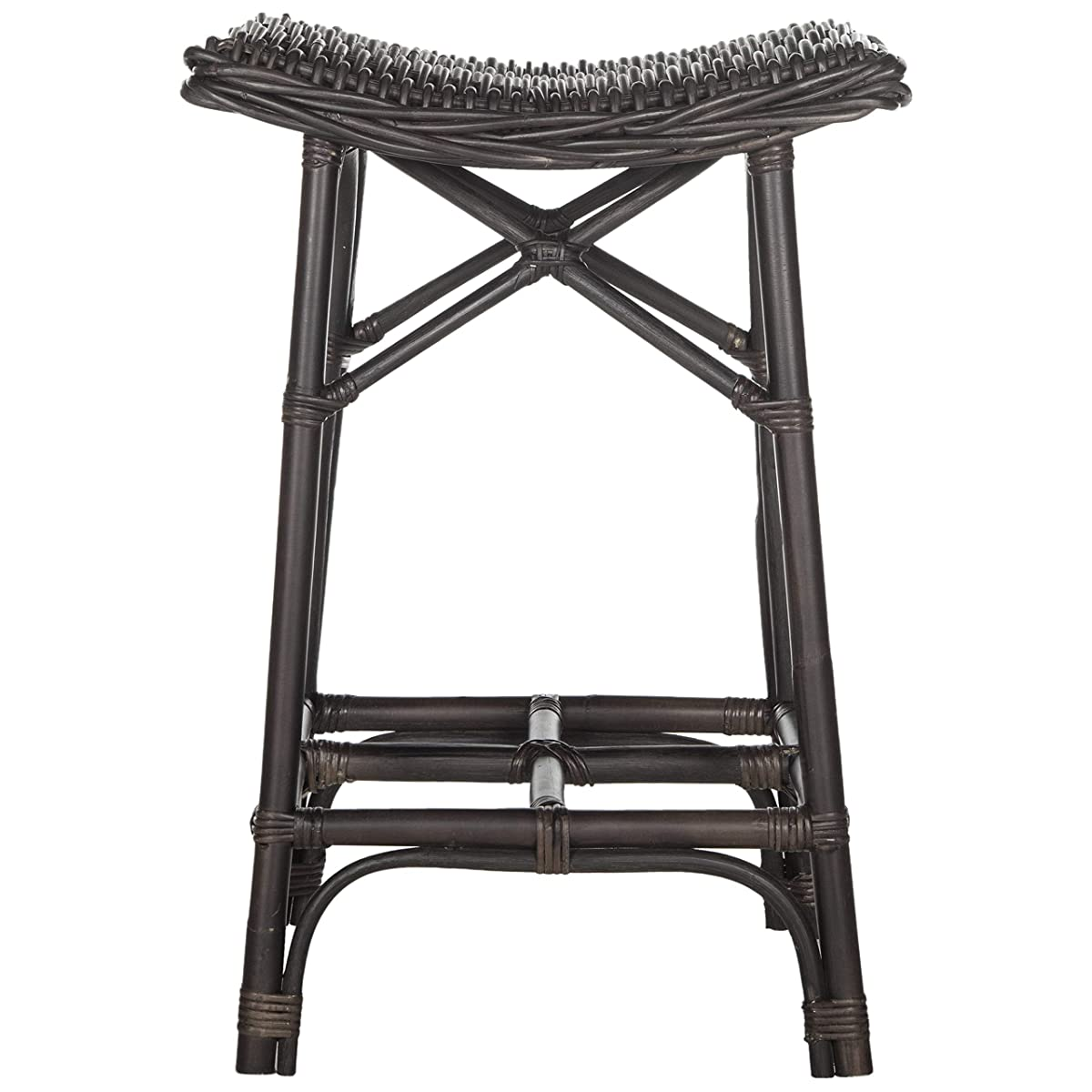 Safavieh Home Collection Amara Brown Wicker Barstool