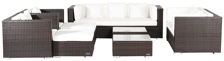 Outflexx große Gartenmöbel Set, S1040 Polyrattan w3 Box, braun