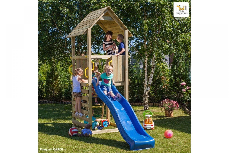 Fungoo ® Carol 1 Spielturm mit Rutsche Farbe blaue Rutsche kaufen