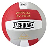 Tachikara Sensi-Tec Composite High Performance Volleyball (Scarlet/White/Silver Gray)