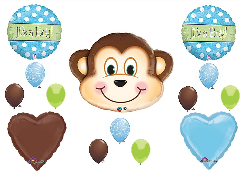 Baby boy monkey balloon kits baby shower mania - Baby shower monkey pictures ...