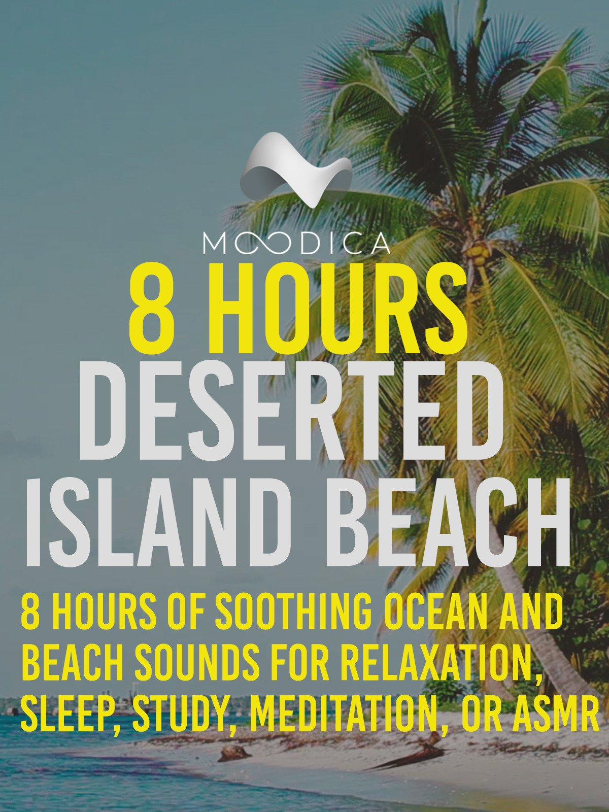 8 Hours: Deserted Island Beach: 8 Hours of Soothing Ocean and Beach Sounds for Relaxation, Sleep, Study, Meditation, or ASMR