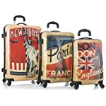 Heys Vintage Traveller-Paris, London & New York-3pc Set