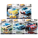 NEW 1:64 HOT WHEELS CAR CULTURE 2018 CASE B 50TH CARGO CARRIERES FPY86-956B SET OF 5 Diecast Model Cars By HotWheels