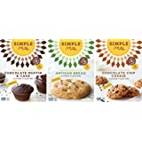 Simple Mills Almond Flour Mix Variety Pack: (1) Artisan Bread, (1) Chocolate Chip Cookie, (1) Chocolate Muffin & Cake, Naturally Gluten Free