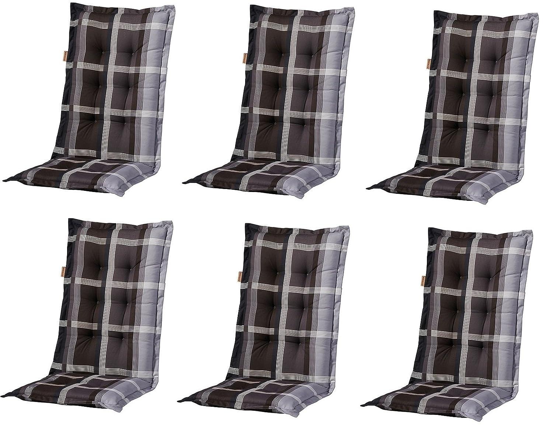 """6 x 8 cm Luxus Hochlehner """"B 255"""", grau schwarz kariert günstig bestellen"""