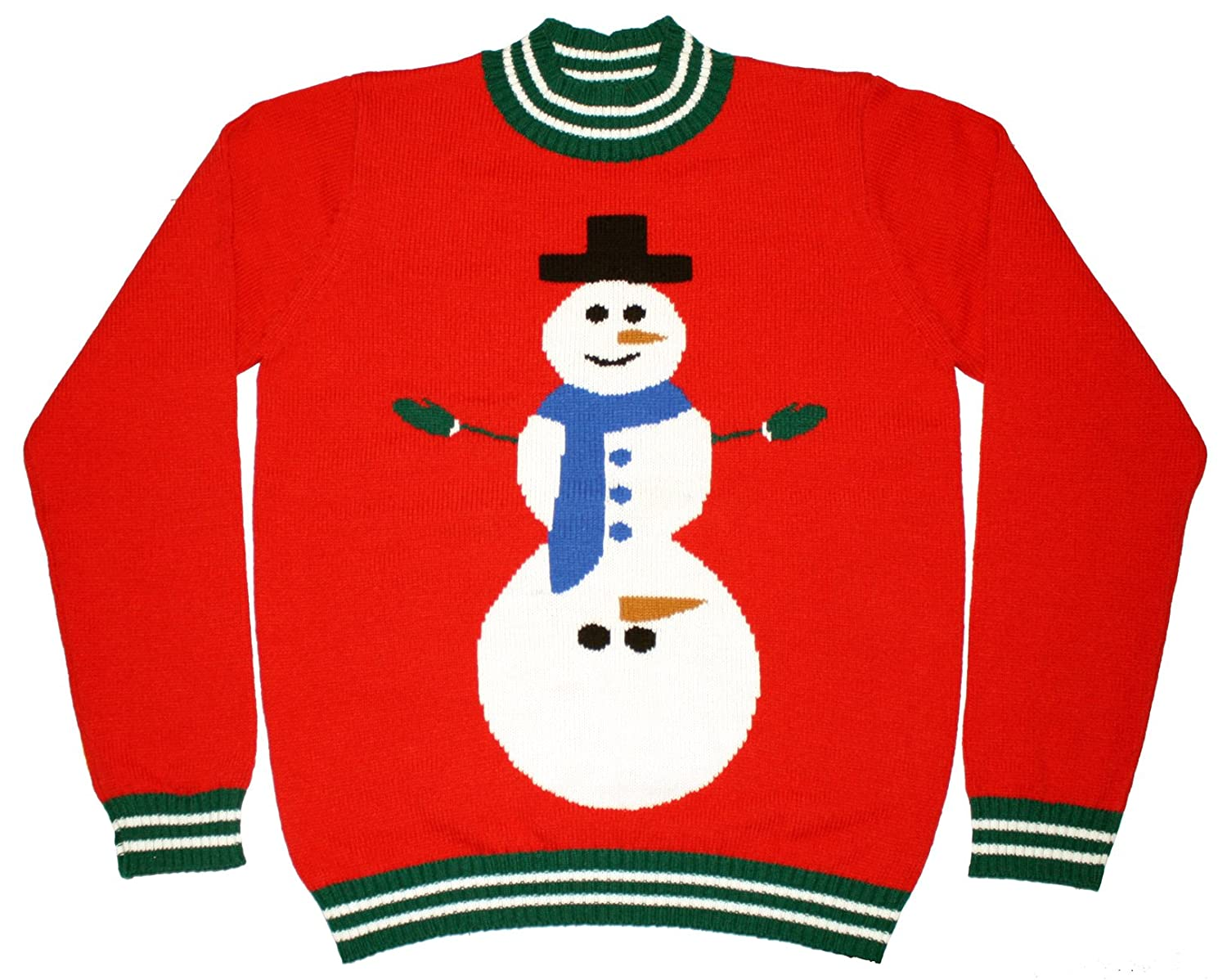 Мужской пуловер Ugly Christmas Sweater - Excited Snowman Naughty Holiday Sweater by Skedouche