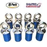 Polaris Lock & Ride ATV Tie Down Anchors for RZR, Sportsman and Ace - Set of 8 Lock and Ride Type Anchors by GripPRO ATV Anchors - THESE DO NOT FIT RANGER
