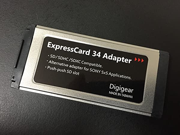 Digigear SD/SDHC/SDXC TO EXPRESSCARD ADAPTER/READER FOR SONY SXS PRO CARD APPLICATION/REPLACEMENT UPTO 2TB (support from 8MB to 32 & 64 GB)