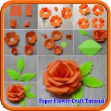 Paper Flower Craft Tutorial