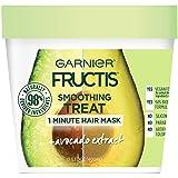 Garnier Fructis Smoothing Treat 1 Minute Hair Mask + Avocado Extract, 13.5 fl. oz. (Color: Avocado, Tamaño: 13.5 fl oz)