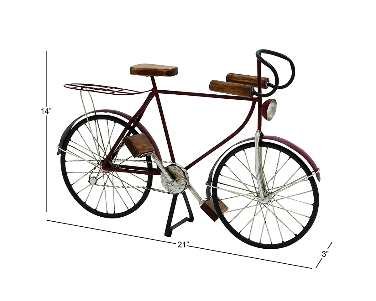 Deco 79 Metal Wood Bicycle, 21 by 14-Inch