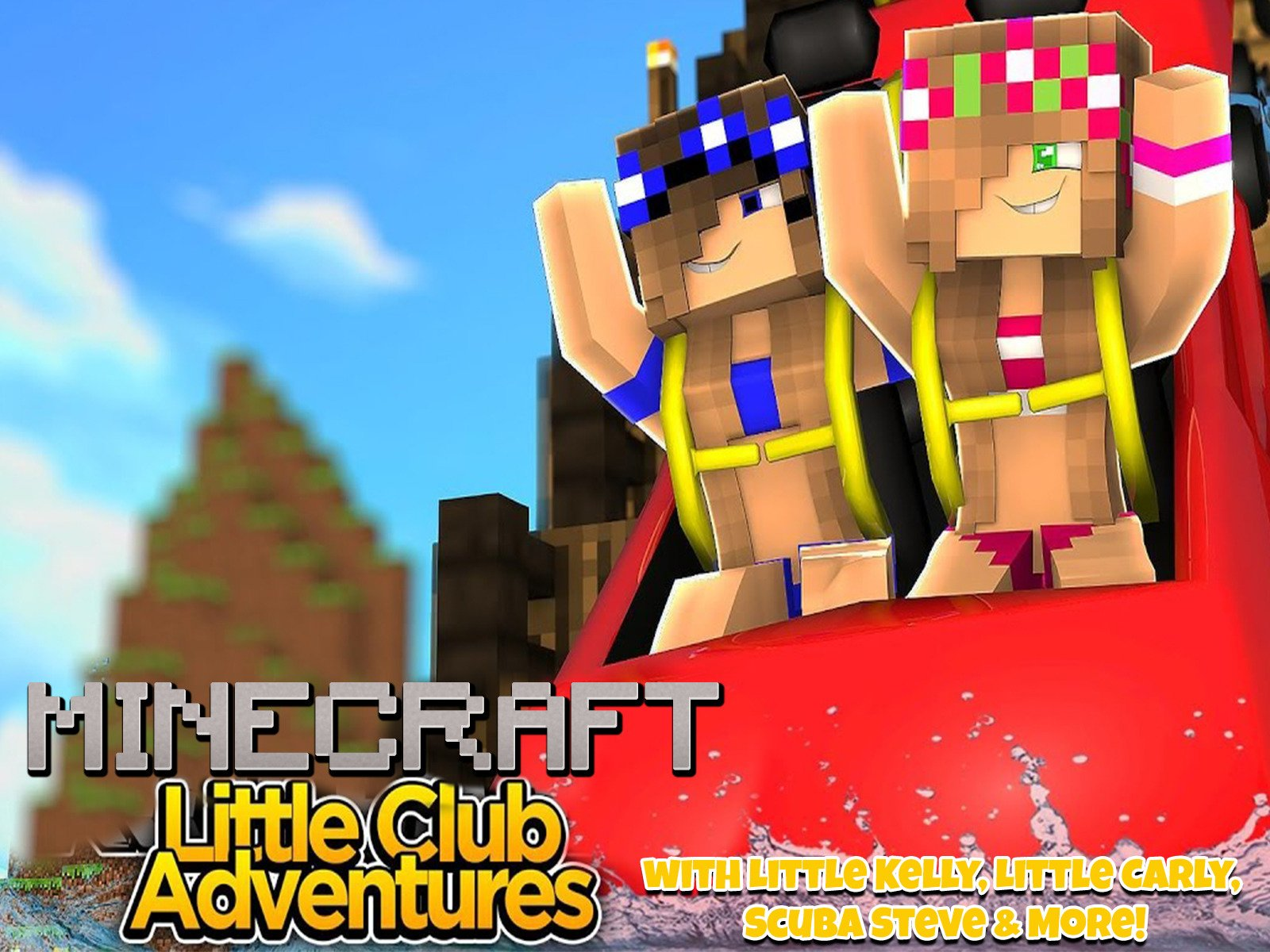 Clip: Little Club Adventures Minecraft with Little Kelly, Little Carly, Scuba Steve & More! - Season 1