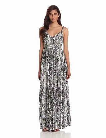 Aventura Women's Malia Print Maxi Dress, Black, X-Small