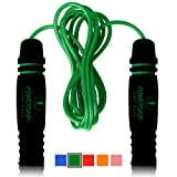 Epitomie PowerSkip Jump Rope with Memory Foam Handles and Weighted Speed Cable - Kryptonite Green (Color: Kryptonite Green)