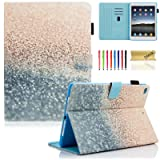 iPad 9.7 inch 2018 2017 Case/iPad Air Case/iPad Air 2 Case, Dteck PU Leather Folio Smart Cover with Auto Sleep Wake Stand Wallet Case for Apple iPad 6th/5th Gen,iPad Air 1/2, Beach Sand (Color: #001 Beach Sand, Tamaño: 9.7 Inch)