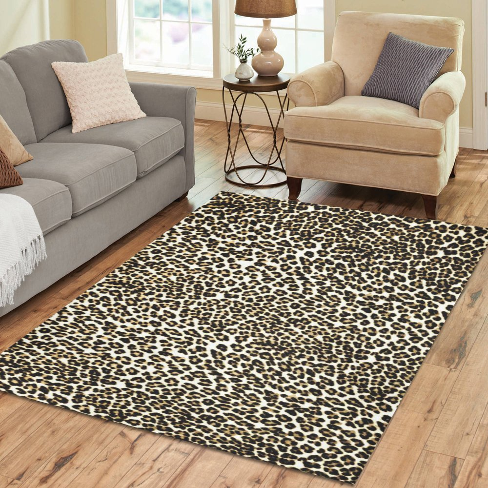 Interestprint Home Decoration White Brown Leopard Print