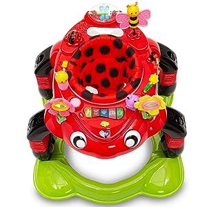 Delta Children Lil/' Play Station 3-in-1 Activity Walker Sadie The Ladybug