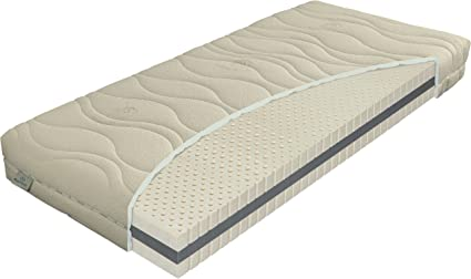 Sultan Night 908740 Latex Matratze, Bio Baumwolle, beige, 200 x 80 x 20 cm