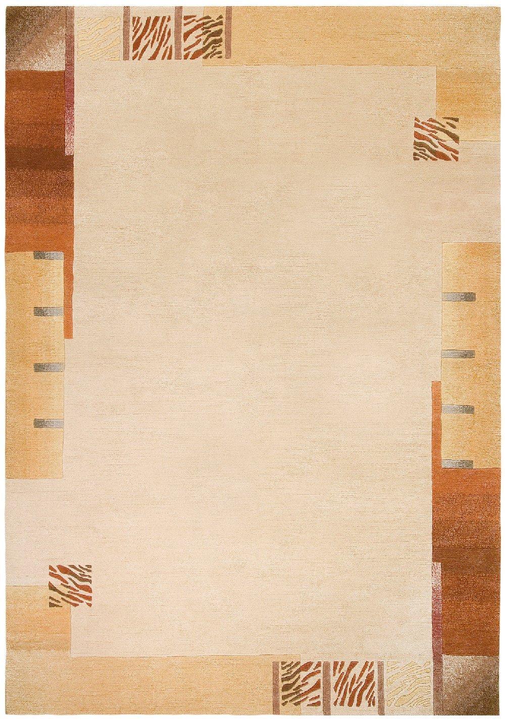"""TEPPICHWELT SONA-LUX Nepal Teppich handgeknüpft creme """"Größe auswählen"""" 170 x 240 cm"""