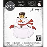 Sizzix 664230 Thinlits Die Set 11 Pack Mr. Snowman Colorize by Tim Holtz, Multicolor (Color: Multicolor)