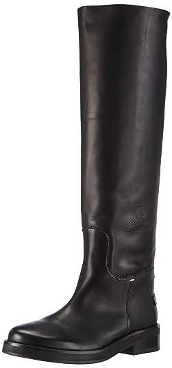 Shabbies Amsterdam Shabbies 3,5cm heel sole Black 45cm high boot Farah, Bottes à tige haute et doublure intérieure femme