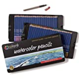Colore Watercolor Pencils - Water Soluble Colored Pencils For Art Students & Professionals - Assorted Colors for Sketch Coloring Pages For Kids & Adults - Vibrant Colors For Drawing Books - Set of 72 (Tamaño: 72 Watercolor Pencils)