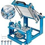 VEVOR Screen Printing Press 200x100mm Manual Cylinder Screen Printing Machine F60mm Maximum Printing Diameter 200mm Printing Perimeter Silk Screen Printing Machine for Cylinder Printing