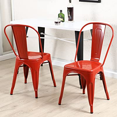 Vintage dining chairs Red