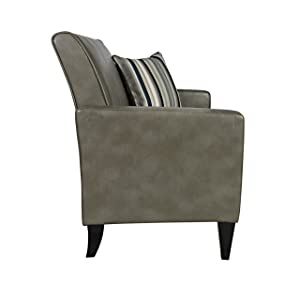 angelo:HOME Sutton Renu Loveseat with Matching Pillow, Gray