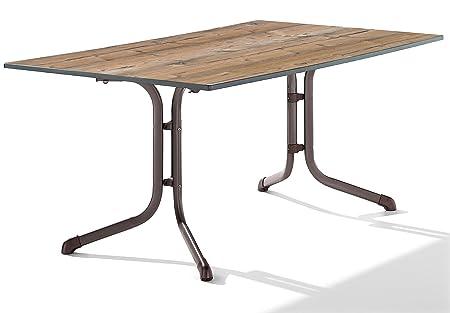 Sieger 1180-75 Puroplan Table de Pliante Boulevard Noisette 165 x 95 x 73 cm
