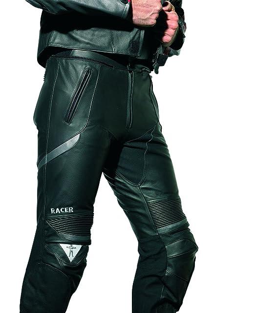 Racer 1252 Corium Pantalon en cuir Noir/Argent
