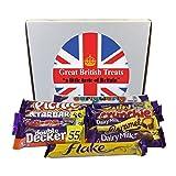 Cadbury Selection Box of 10 Full Size British Chocolate Bars (Color: Basic Pack, Tamaño: 10 Chocolate Box)