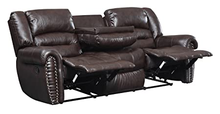 Glory Furniture Reclining Sofa, Cappuccino