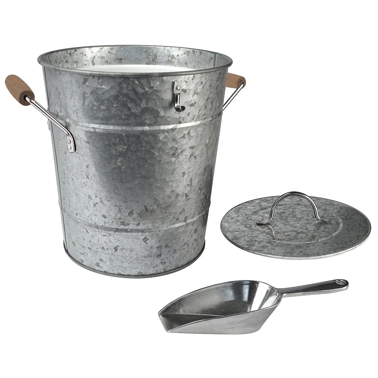 Artland Oasis Ice Bucket with Scoop, Galvanized, Metal 1