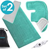 Heating Pad Gift Set – Shoulder & Neck Heating Pad and Extra-Large 12 x 24 Inch Heating Wrap for Back or Abdominal Pain Relief – Moist Heating Option with Auto Shut Off - One Year Warranty (Color: Blue)