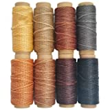 264 Yards 150D Leather Sewing Waxed Thread Cord for Leather Craft DIY, 1mm Diameter,8 Colors Thread Cord,Each of 33 Yards (Tamaño: 8 Colors)