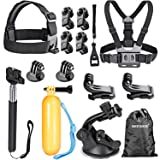 Neewer 16-in-1 Sport Accessory Kit for GoPro Hero4 Session Hero 4/3??, Sj4000/5000/6000/7000 Sony Action Camera Hdr-as15 As20 As30v AS50 As100v A