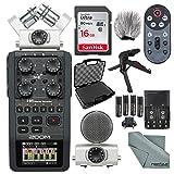 Zoom H6 Portable Recorder with Interchangeable Mic System Deluxe Bundle w/ Case + Remote + XPIX Tripod + 16GB + Windscreen + Batteries + Fibertique Cloth