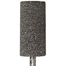 "Norton NorZon Resin Bond Abrasive Mounted Point, Zirconia Alumina, W208 Shape, 1/4"" Spindle Diameter, 3/4"" Diameter x 2"" Thickness, Grit 24 (Pack of 5)"