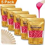 17.5 Oz Hair Wax Beans by Charmonic, Hard Body Wax Beans, Hair Removal Depilatory Wax European Beads for Women Men 500g/17.5Oz (rose) (Color: Rose, Tamaño: 500g)