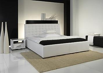 """Meise Möbel 263-10-60000 Polsterbett """"Isa Comfort"""" mit Kunderlederbezug, Liegefläche 200 x 200 cm, weiß"""